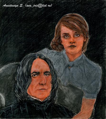 Hermione and Severus portrait