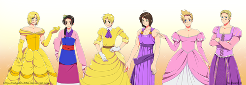Hetalia x Disney Princesses cross-over