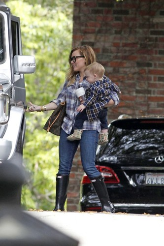 Hilary & Luca out in LA