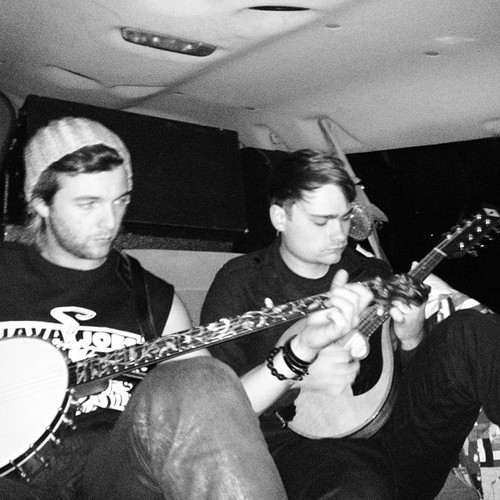 In the back of the van, 10hr drive today... Been a long one! Hopefully hittin philly at 10pm...