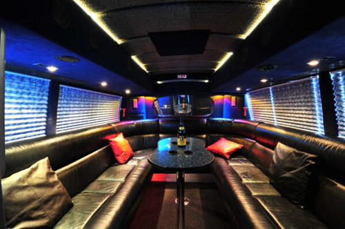 "Inside the One Direction ""Take Me Home"" tour bus."