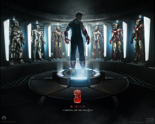 Iron Man wallpaper containing a fountain entitled Iron Man 3 [2013]