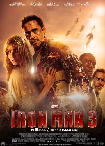 Iron Man Hintergrund containing Anime titled Iron Man 3 (Fan Made) Movie Poster