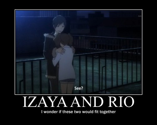 1Izaya Orihara 壁紙 possibly with a sign called Izaya X Rio