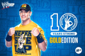 JOHN CENA GOLDEN T-SHIRT - wwe photo