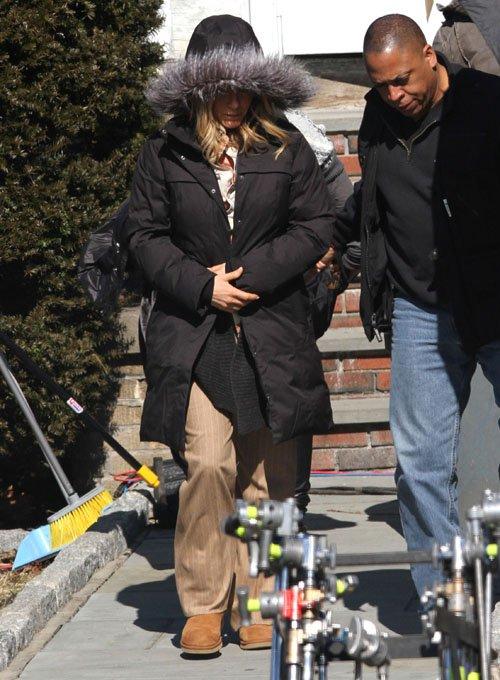 "Jennifer on set of ""Untitled Elmore Leonard Project"""