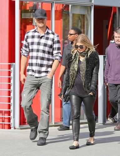 Josh & Fergie out in Santa Monica