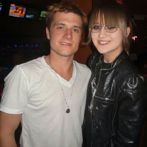 Josh with a fan (3/11/2013)