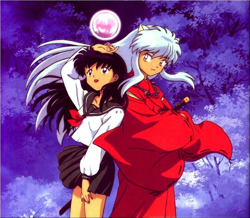 Inuyasha wallpaper with anime titled Kagome and InuYasha
