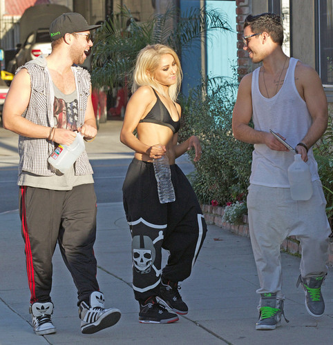 Kat Graham with friends in West Hollywood