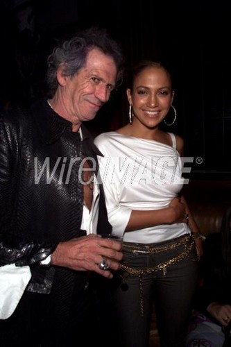 Keith Richards, Jennifer Lopez 2000
