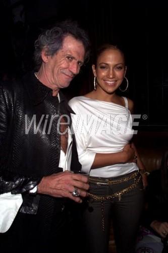 Keith Richards, Jennifer Lopez 2000