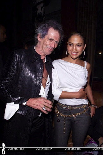 Jennifer Lopez wallpaper containing a well dressed person and a business suit entitled Keith Richards, Jennifer Lopez 2000