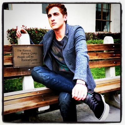 Kendall Schmidt wallpaper with a park bench titled Kendall