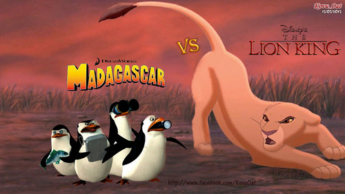 Kiara LionKing meet Penguins of Madagascar