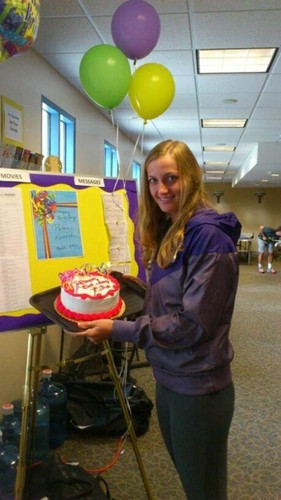Kvitova birthday cake