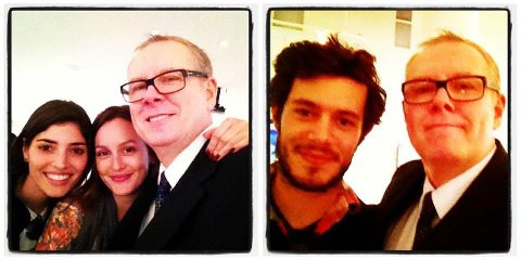 Leighton with Norman Buckley,Amanda Setton and Adam Brody