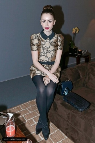 Lily attends the Louis Vuitton Fall/Winter প্রদর্শনী during Paris Fashion Week [06/03/13]