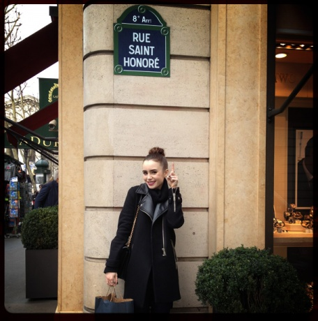 Lily during Paris Fashion week: تصویر Diary for Vogue!