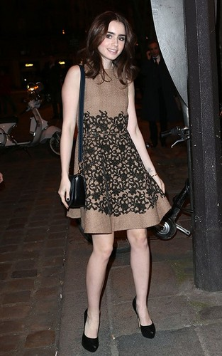 Lily out in Paris