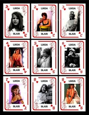 Linda Blair Playing Cards