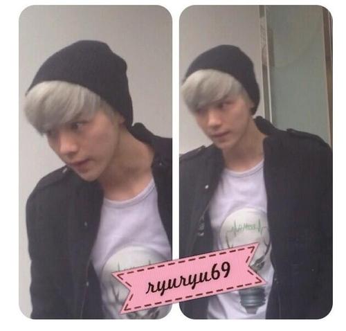 luhan grey hair