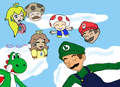 Luigi Gets His Hero On: Hooray for 15 Chapters! - yoshi fan art