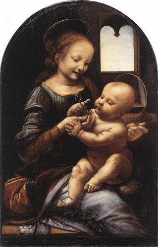 Madonna with a Flower (Madonna Benois) by Da Vinci, c.1478