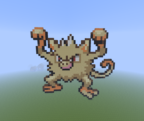 Minecrat Pixel Art! Hintergrund called Mankey!