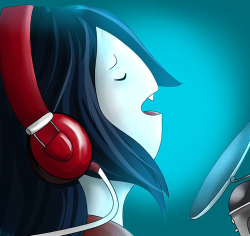 Marceline wallpaper probably with anime called Marceline singing