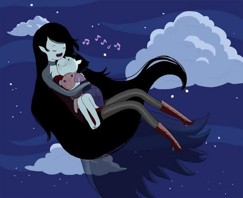 Marceline with her mom