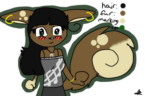 Matilda N. Hazelnut (Squirrel character my friend made for me.))