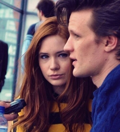 Matt Smith & Karen Gillan wallpaper possibly with a portrait called Matt & Karen