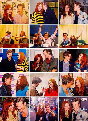 Matt Smith & Karen Gillan wallpaper entitled Matt and karen