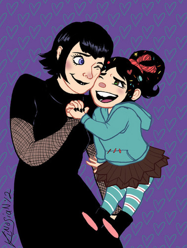 Disney crossover karatasi la kupamba ukuta with anime entitled Mavis and Vanellope