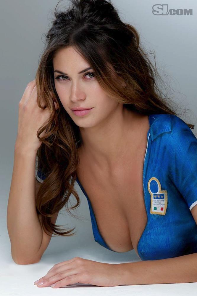 Melissa Satta in Bodypaint: 2010 Issue