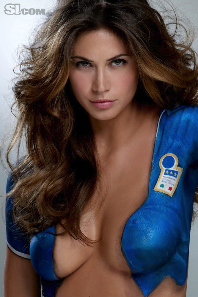 swimsuit si Melissa Satta in Bodypaint: 2010 Issue