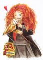 Merida in Hogwarts - merida fan art