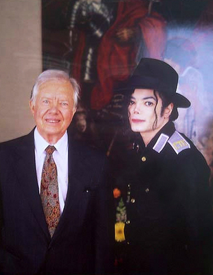 Michael And Former President, Jimmy Carter Back In 1992