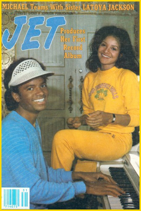 """Michael And LaToya On The Cover Of """"JET"""" Magazine"""