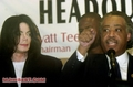 Michael And Reverend Al Sharpton - michael-jackson photo