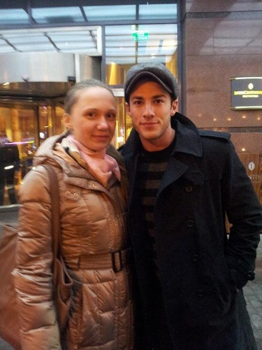 Michael Trevino in Moscow, Russia (March 2013)