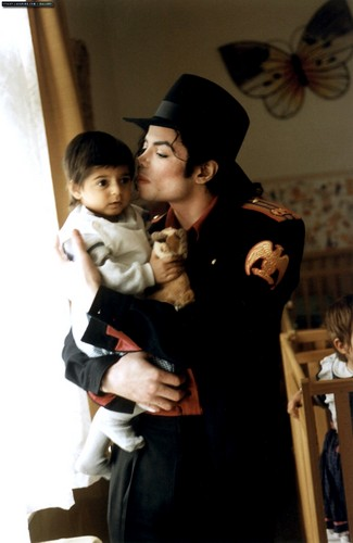Michael visits a children's hospital
