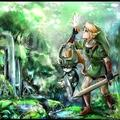 Midna, Link and Navi - the-legend-of-zelda fan art