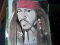 My drawing of Johnny Depp as Jack Sparrow