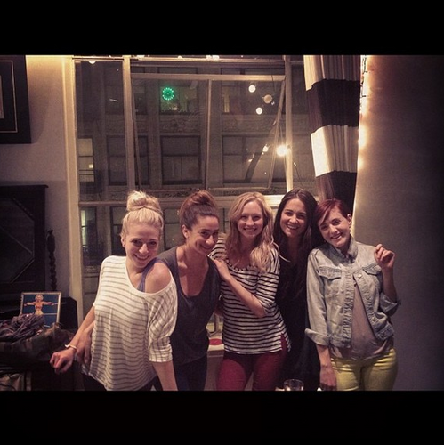"New Twitter pic - Candice with the girls of ""Show Me Your Mumu"""