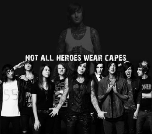 Not all heros wear capes - motionless-in-white PhotoMitch Lucker And Vic Fuentes