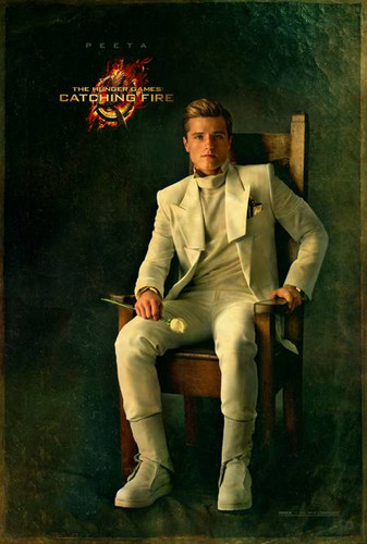 Peeta Mellark वॉलपेपर with a business suit, a suit, and a well dressed person titled Official 'Catching Fire' Portraits - Peeta Mellark