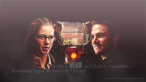 Oliver & Felicity achtergrond possibly with alcohol called Olicity