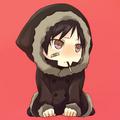 Teary Eyed Chibi Orihara Izaya Eating a Pocky Stick - anime fan art